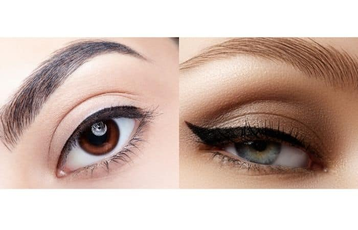 How to look more feminine in the face with applying eyeliners
