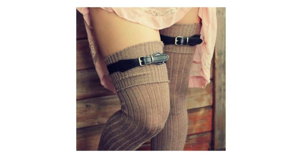 how to wear thigh high socks plus size
