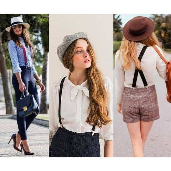 what to wear with suspenders girl, women outfits with suspenders