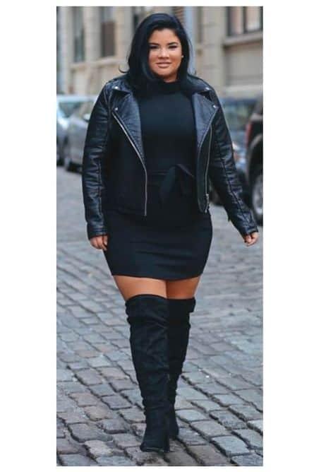 plus size concert outfit ideas , all-black plus size concert look