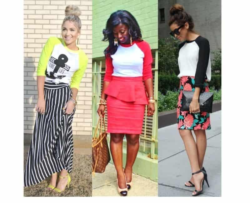 how to style women's raglan tee