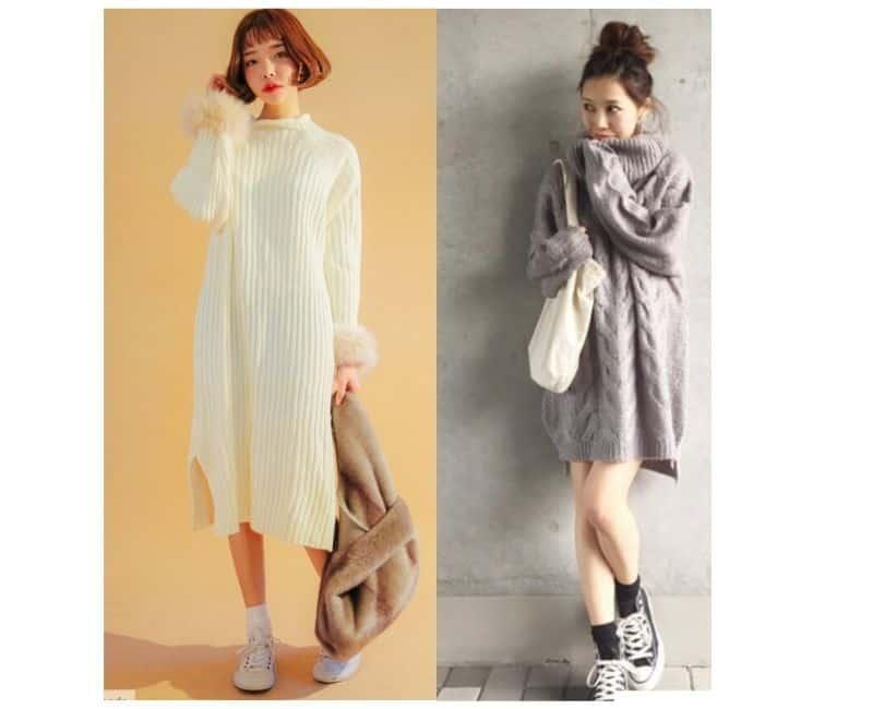 how to wear sweater dress in winter
