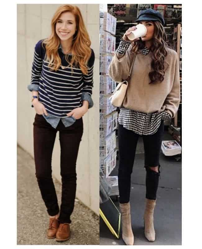 Black skinny high waisted jeans outfit ideas